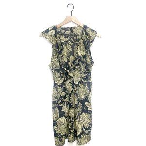 Everly Spring Floral V-Neck Midi Dress